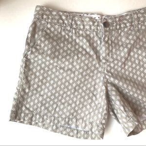 Merona • Patterned Twill Cotton Flat Front Shorts